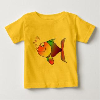 Färgrik gullig rolig fisk - tee