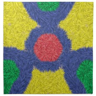 Färgrik hårig för Kaleidoscope Tygservett