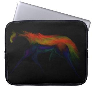 Färgrik häst på den bästa sleeven för svart varv laptop fodral