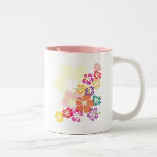Färgrik hibiskus Två-Tonad mugg