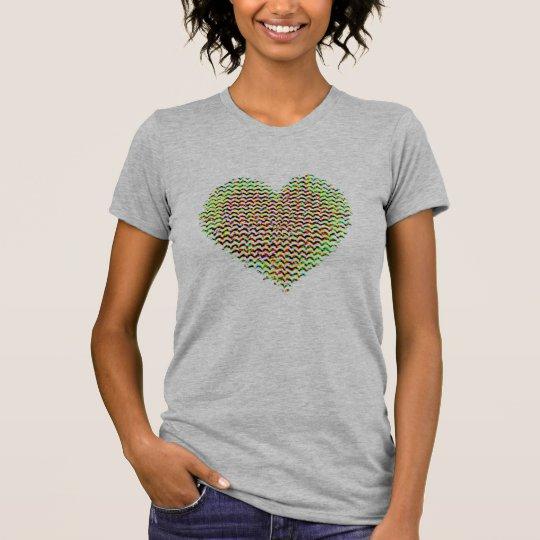 färgrik hjärtakärlekvalentin gåva-idé för dag tee shirt