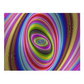 Färgrik hypnos vykort