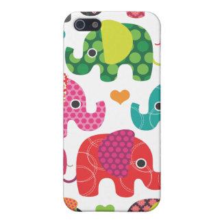Färgrik iphone case för elefantungemönster iPhone 5 cover