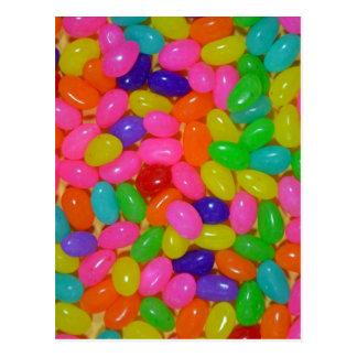 Färgrik jellybeangodis vykort