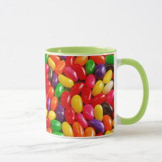 Färgrik jellybeanmönstermugg mugg