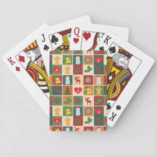 Färgrik julCollage Spel Kort