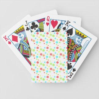 Färgrik julsnöflingor spelkort