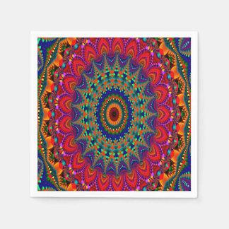 Färgrik Kaleidoscope för abstrakt konst Pappersservett
