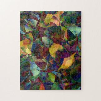 Färgrik Kaleidoscopic abstrakt konst Pussel