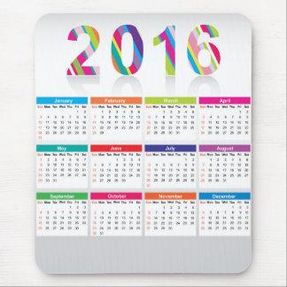 Färgrik kalender 2016 musmatta