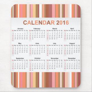 Färgrik kalender för randar 2016 musmattor