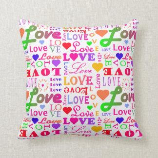 Färgrik kärlek för kärlek för kärlek för kudde
