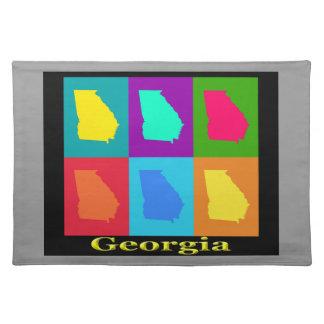Färgrik karta för Georgia statlig popkonst Bordstablett