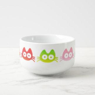 Färgrik katt kopp för soppa