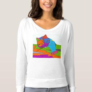 Färgrik katt t-shirt