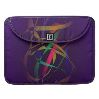 Färgrik kokong i ett mörkt lilautrymme sleeves för MacBook pro