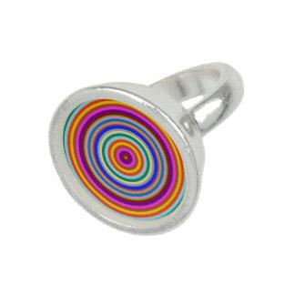 Färgrik konst för energichakraregnbåge foto ringar