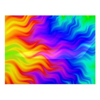 Färgrik konst för regnbågeabstrakt 3D Vykort