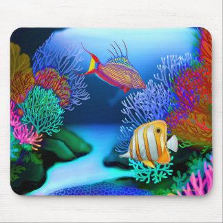 Färgrik korallrevfisk Mousepad Musmatta