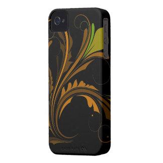 Färgrik krusidull iPhone 4 cases