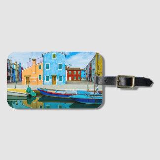 Färgrik lagun för fartygplats |Venetian Bagagebricka