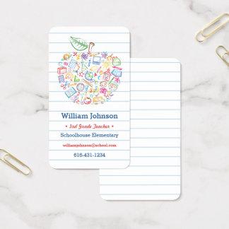 Färgrik lärareApple visitkort