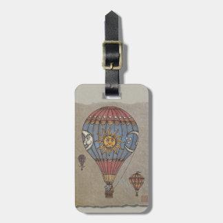 Färgrik luftballong bagage lappar