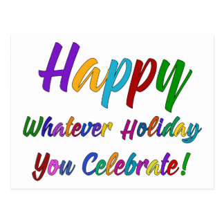 Färgrik lycklig spelar ingen roll helgdag som du vykort