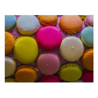 Färgrik Macarons smaklig bakad efterrätt Vykort
