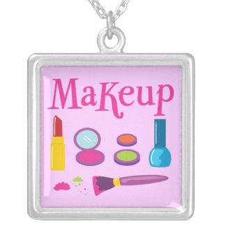 Färgrik Makeup Silverpläterat Halsband