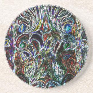 Färgrik målat glass verkställer popkonstdesign underlägg