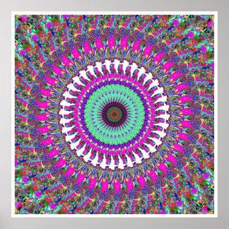 Färgrik Mandala av symmetrin Poster