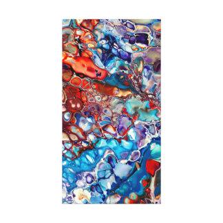 Färgrik modern abstrakt Fluid akryl - Canvastryck