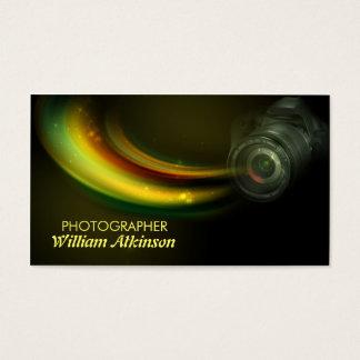färgrik modern visitkort för fotograf