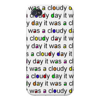 Färgrik molnig dagiphone case iPhone 4 hud