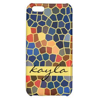 Färgrik mosaik för funky för abstrakt för iPhone 5C mobil skydd