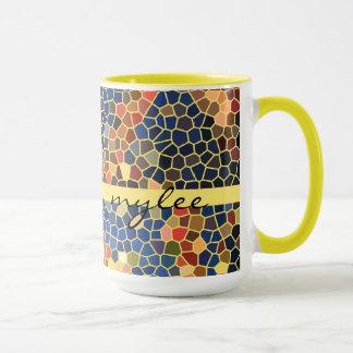 Färgrik mosaik för funky för abstrakt för mugg