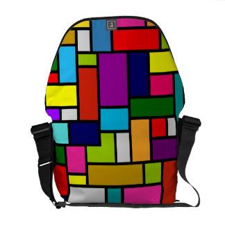Färgrik mosaisk messenger bag