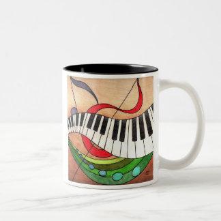 Färgrik musik, i liv och att vara av-takten kan Två-Tonad mugg