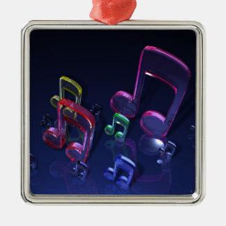 Färgrik musik noterdesign julgransprydnad metall