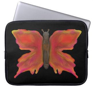 Färgrik nätt fjäril laptop sleeve