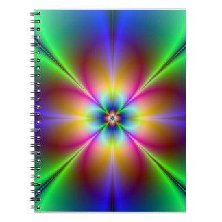 Färgrik neondaisy anteckningsbok