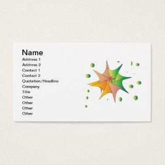 Färgrik ny affärslogotyp för idérika formgivare visitkort