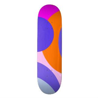 Färgrik orange rosa lila- och blåttabstrakt skateboard bräda 21,5 cm