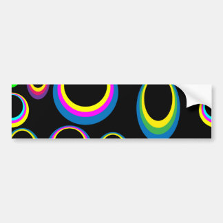 Färgrik ovaler för Retro Hippie Bildekal
