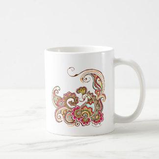 färgrik påfågel kaffemugg