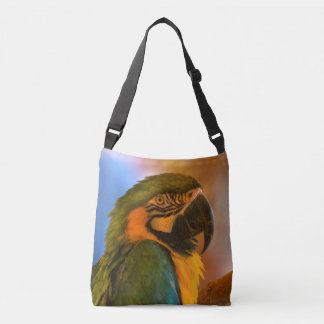 Färgrik papegoja axelväska