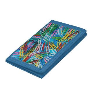 Färgrik paperclipstryckplånbok