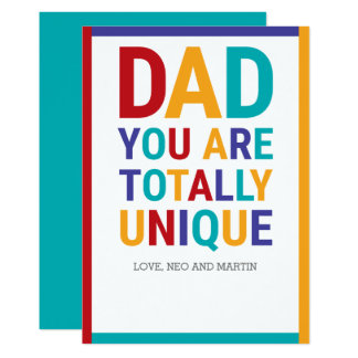 Färgrik pappa 12,7 x 17,8 cm inbjudningskort