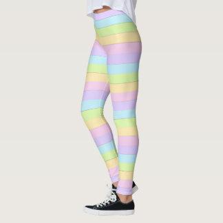 Färgrik påskpastelldamasker leggings
